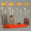 Flesjes met verschillende materialen